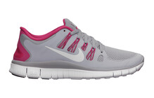 Nike Women's Free 5.0+ wolf grey/pink force/white